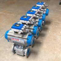 Photo by Diversified Controls: VAC V200 on 3 way ball valves