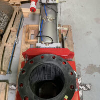 Photo by Flowrox: V200 Plug unit on a Flowrox pinch valve used in the pulp and paper industry