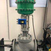 """Photo by White Equipment: V200 on a 3"""" flanged pneumatic RTK control valve"""