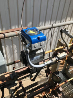 Photo by Alloy Valves and Controls (AVCO): VAC V200 on a package built by AVCO for a natural gas line.