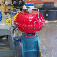 "Photo by Easytork Automation Corporation: 12"" plug valve with a VAC V200."
