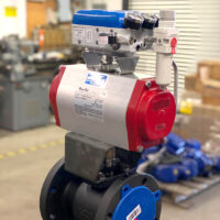 Photo by Pneumatic Controls: VAC V200 electro-pneumatic unit with a filter regulator and gauge set.