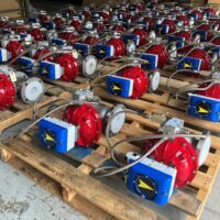 "Photo by Easytork Automation: Easytork 3"" control valve packages with VAC V200E with a Super High Gain High Flow Spool Valve Installed"