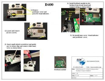 Installing a Feedback Module onto a D400