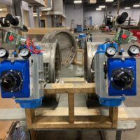 Photo by Kelair: V200E with raised indicator on a stainless steel butterfly damper